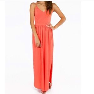 Coral Maxi Dress from Tobi